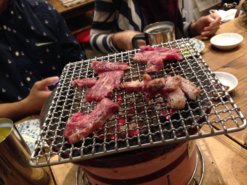 Our Yakiniku halal dinner at Gyumon Restaurant, Shibuya